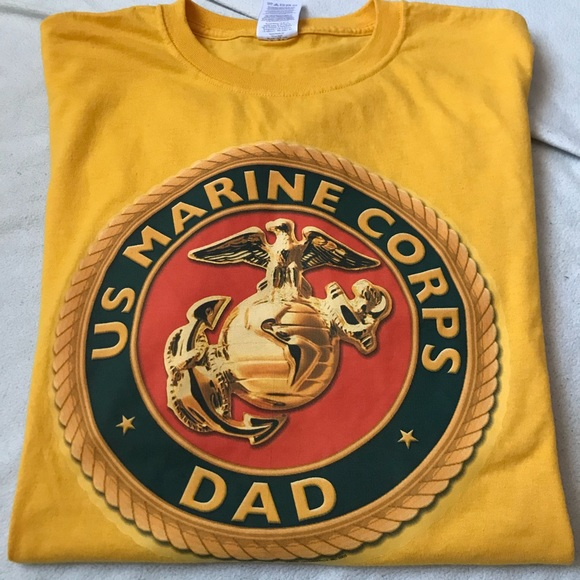 Jerzees Other - US Marine Corps Dad Yellow T-Shirt L